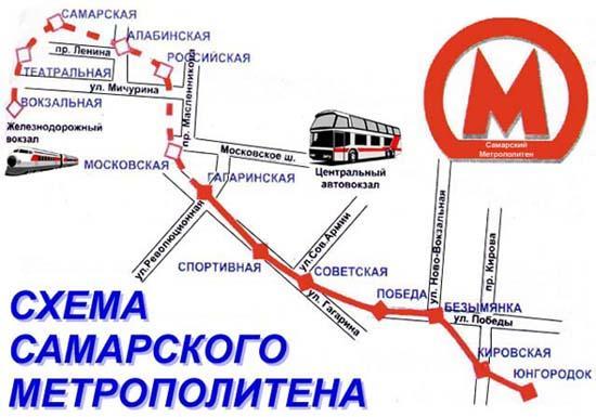 Самара, карта города